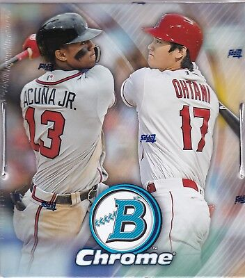2018 Bowman Chrome Baseball Hobby Box Factory Sealed