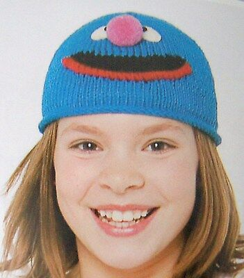 GROVER HAT knit Toddlers COTTON 1 3 year blue ski cap NEW costume Sesame - Grover Costume Toddler