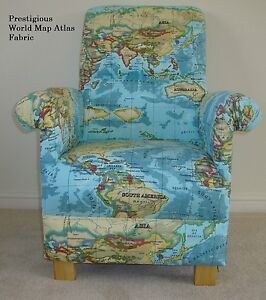 prestigious world map atlas fabric chair nusery book