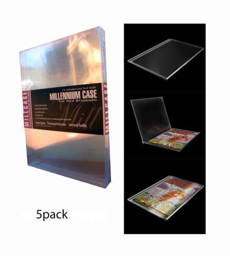 MILLCASE  NEW SEALED Comic Book Holder  Hard Case 5 Pack