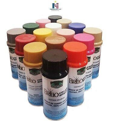 BRILLO Color Spray Leather Vinyl Paint/Dye 4.5 oz (127 g)- Always FRESH!](Dye Spray)