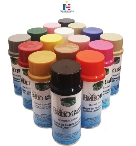 BRILLO Color Spray Leather Vinyl Paint/Dye 4.5 oz (127 g)- Always FRESH!