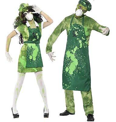 Couples Mens Ladies Zombie Bio-Hazard Toxic Waste Halloween Costumes Outfits