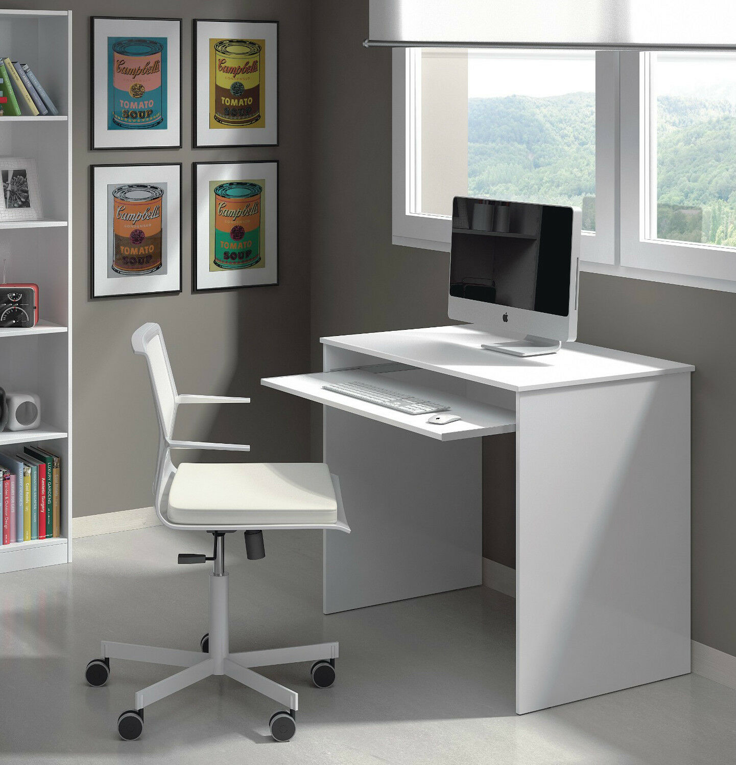 Home Office Corner Desks White Gloss Oak Computer Study Table Furniture Ebay