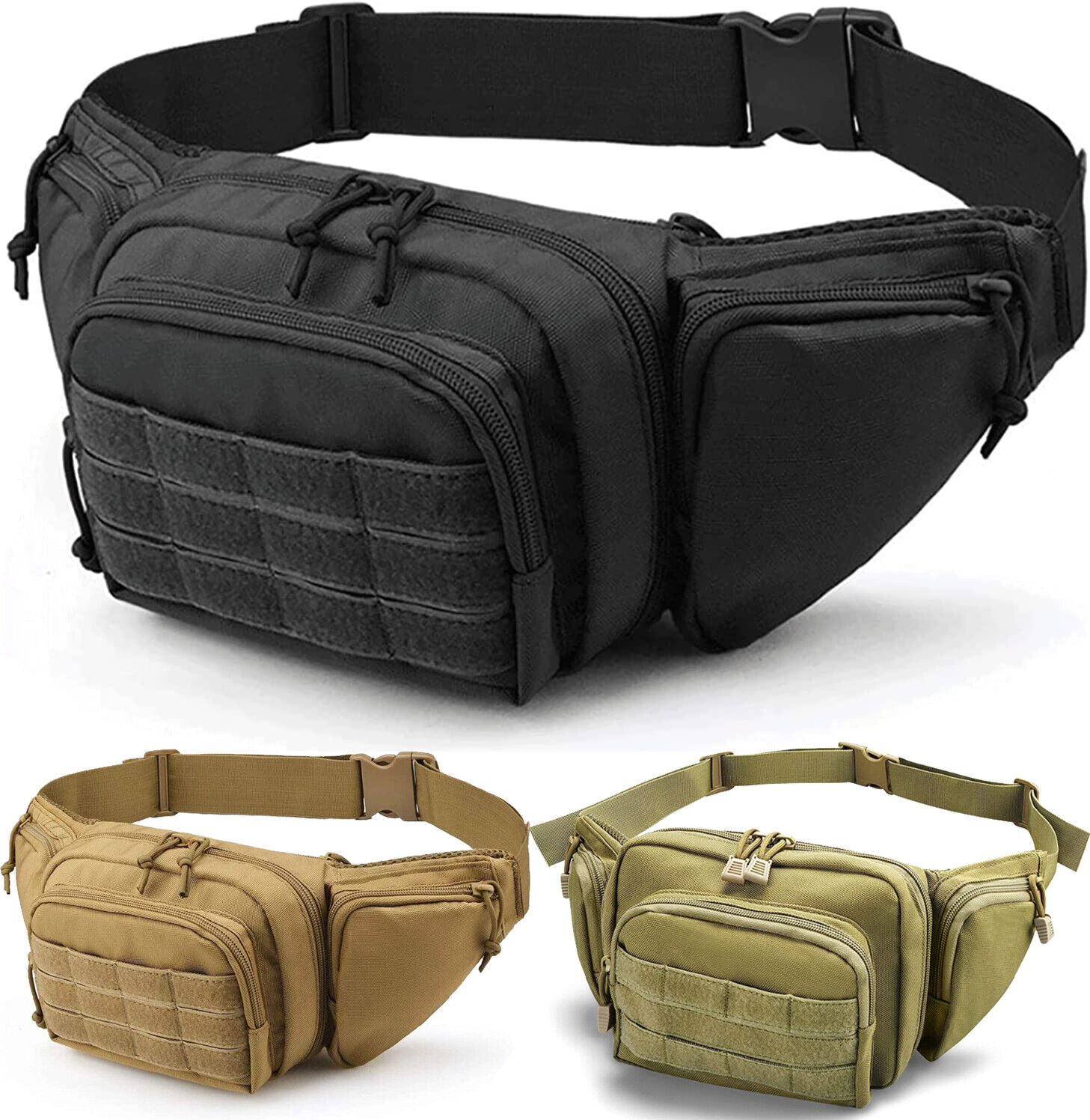 Concealed Carry Fanny Pack Holster Tactical Pistol Waist Pack Bag Gun Holster US Holsters
