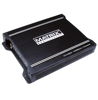 NEW MATRIX AUDIO VX1600.2 1600 WATT CAR STEREO AUDIO 2 CHANNEL AMPLIFIER AMP