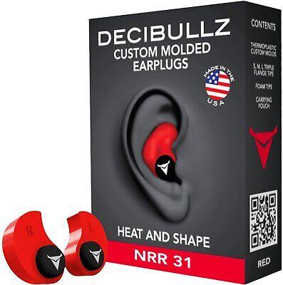Custom Molded Earplugs 31db Highest Nrr Comfortable Hearing