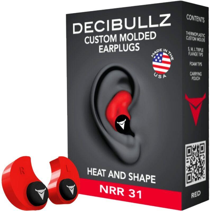 Custom Molded Earplugs, 31dB Highest NRR, Comfortable Hearing