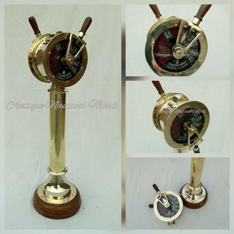 Nautical Brass Engine Order Telegraph Antique Maritime Home Decorative