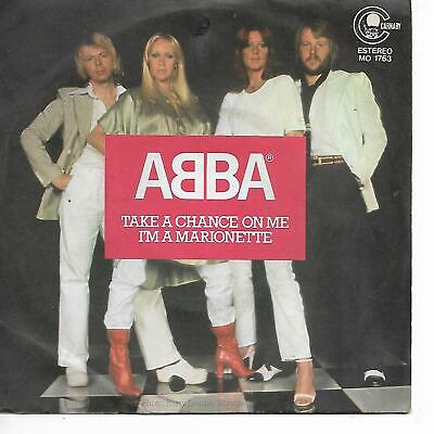 "ABBA 7""PS Spain 1977 Take a chance on me"