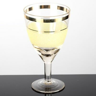 hmelzungen Gelb Goldand Ringe Glas Vintage Shabby Chic  (Weinglas Ringe)