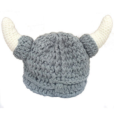 Baby Photography props Viking hat with horns knitted hat - Viking Props