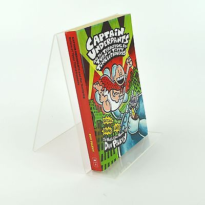 5 x Book Stand / Magazine Retail Display in Clear Acrylic 150mm x 200mm PDS8262