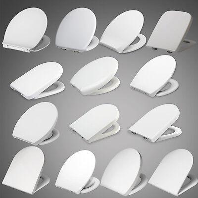 Toilettensitz WC Deckel Klodeckel mit ABSENKAUTOMATIK Sitz Brille Weiß #62-1