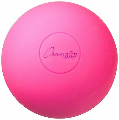 Champion Lacrosse Ball (x1) Official NFHS NCAA Mobility Massage Therapy-PINK
