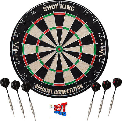 Viper Shot King Sisal Fiber Bristle Dartboard, Official Sized, New