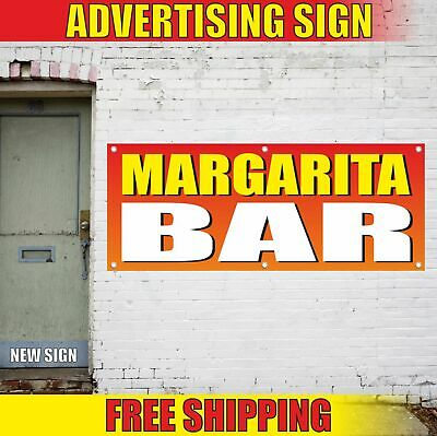 Margarita Bar Advertising Banner Vinyl Mesh Decal Sign Daiquiris Drinks Pub Mix