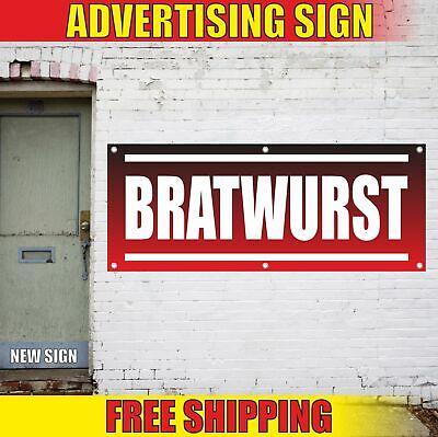 Bratwurst Advertising Banner Vinyl Mesh Decal Sign Sausages Hot Dog Grill Food