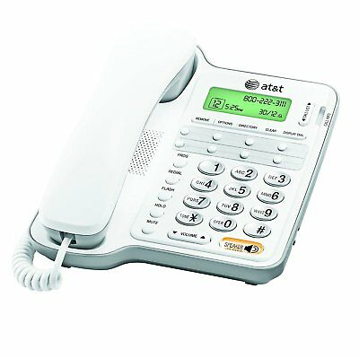 AT&T Landline Phone Corded Home Office Desk Wall Telephone Large Display White