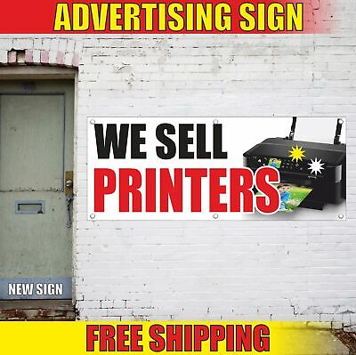 We Sell Printers Advertising Banner Vinyl Mesh Decal Sign Scanner Office Fax New