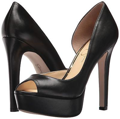 Jessica Peep Toe Pumps (Jessica Simpson Martella Platform d'Orsay Peep-Toe Pumps, Multi Sizes BLK Leathe)