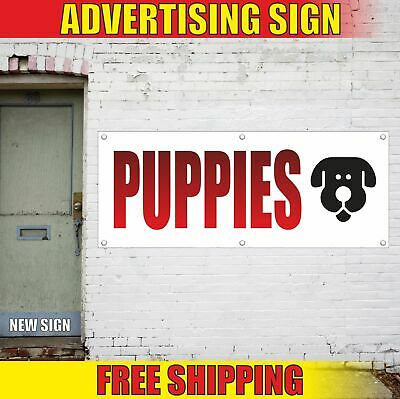 Puppies Advertising Banner Vinyl Mesh Decal Sign For Sale Hush Fudge Healthy Dog