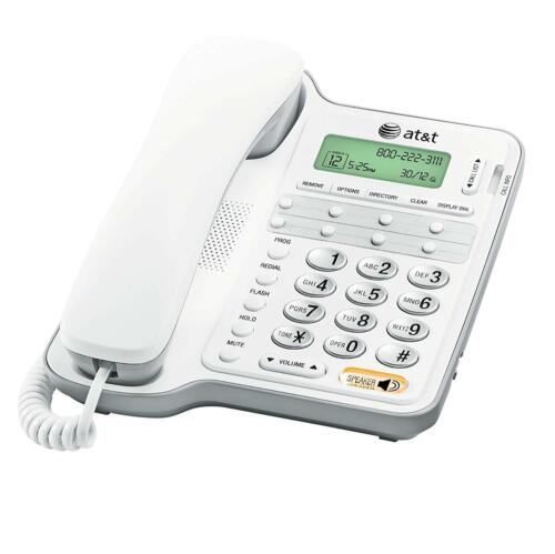 AT&T CL2909: Corded Phone w/ Speakerphone and Caller ID/Call Waiting, White