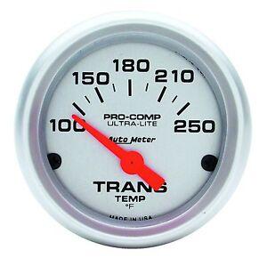Auto Meter Ultra Lite Pro Comp Electric Trans Temp Gauge 100-250 Deg F (2-1/16