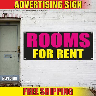 Rooms For Rent Advertising Banner Vinyl Mesh Decal Sign House Motel Hotel Hostel