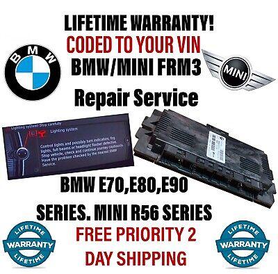 FRM3 REPAIR for BMW/MINI Light Module LIFETIME WARRANTY! SAME DAY REPAIR!