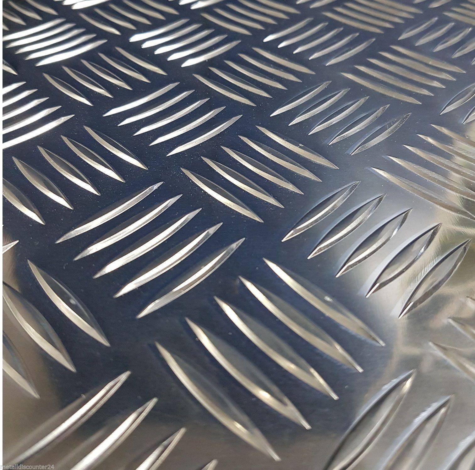100x100mm Alu Riffelblech 5//6,5mm Aluminium Blech Quintett Warzenblech Tr/änenblech Zuschnitt Wunschma/ß m/öglich