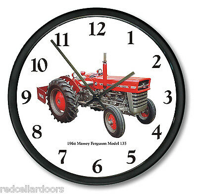 New 1964 Massey Ferguson Model 135 Tractor Wall Clock 10 Round Restored Vintage