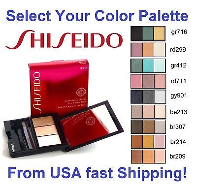 (NEW Shiseido Luminizing Satin Eye Color Trio Selection of Colors 0.1 Oz/ 3 g NIB)