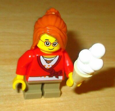 Lego City Figur - kleines Mädchen mit Brille