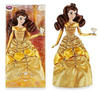 "Disney Store Classic Princess Belle ""Beauty and the Beast"" Doll 12"" NIB"