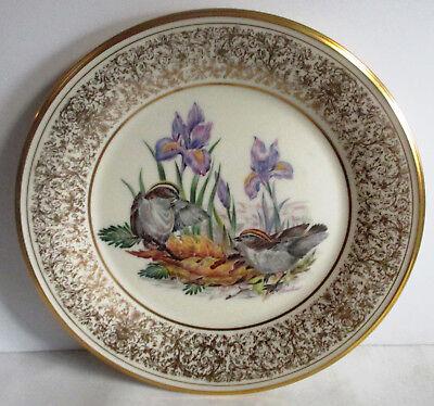 """BEAUTIFUL 10 1/2"""" LENOX BIRD PLATE BY BOEHM 1979 Kinglets Boehm Birds"""