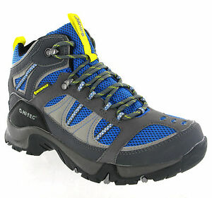 Mens-Hi-Tec-Bryce-Blue-Waterproof-Walking-Hiking-Trail-Boots-Size-7-13