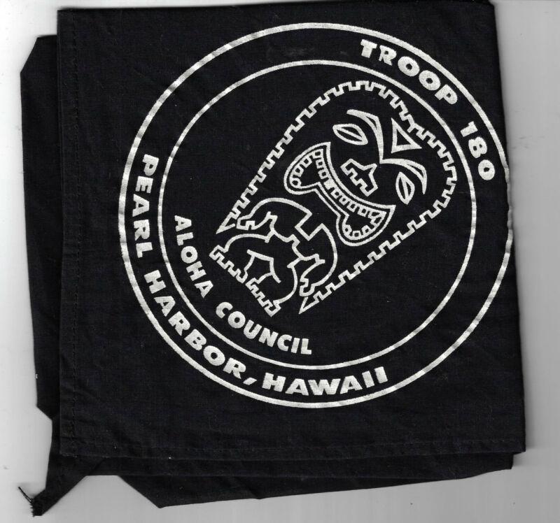 BSA Troop 180 Aloha Council, Pearl Harbor, Hawaii Neckerchief [MX-3530]