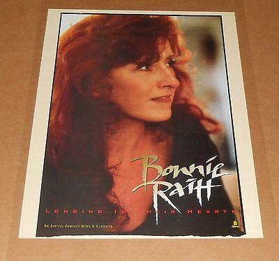 Bonnie Raitt Longing in Their Hearts 1994 Promo Original Poster 18x24