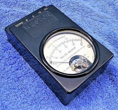 Weston Model 687 Output Voltmeter Us Navy