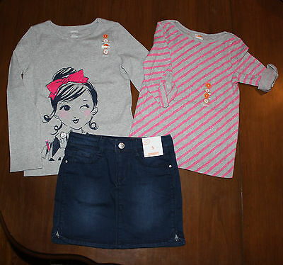 NWT Gymboree Fairy Tale Forest  3pc Set Outfit: set 2 tops & Denim Skirt Size: 5](Fairy Tale Outfits)