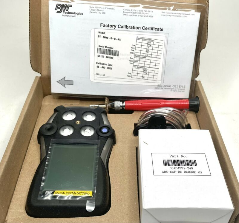 BW Technologies QT-00H0-R-B-NA GasAlertQuattro Rechargeable 1-Gas Detector - NEW