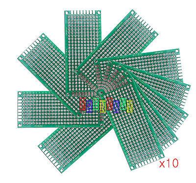10pcs 3x7 Cm Double Side Diy Prototype Circuit Breadboard Pcb Universal Board