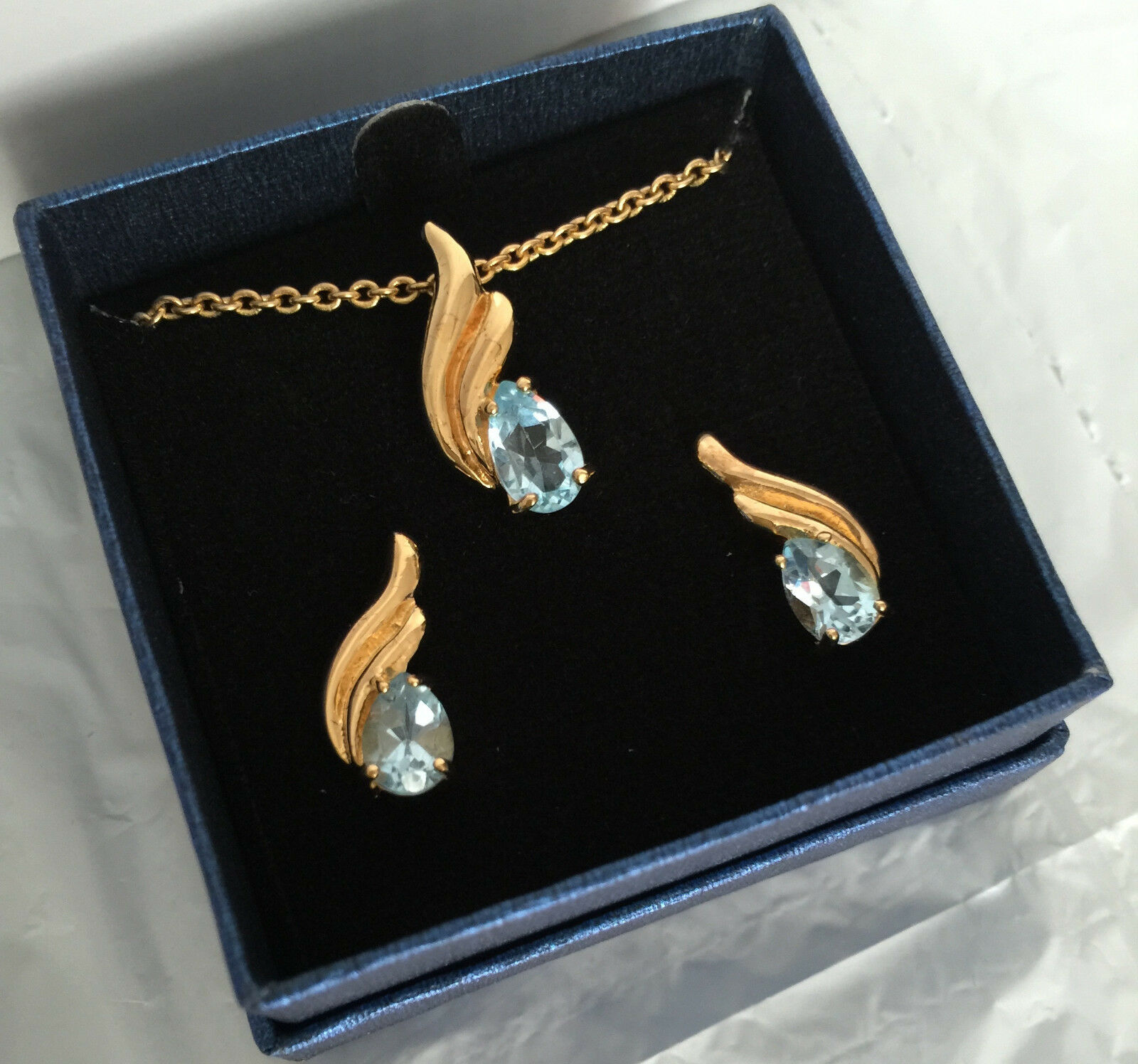 Gold Plated Silver Necklace Set 290 00: QVC Gold Plated Pendant And Earrings Set 14k Gold 18