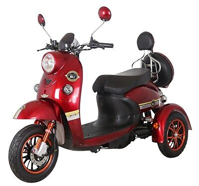 Red 3 Wheeled 60V 100AH 800W Electric Mobility Scooter FREE Delivery-Green Power