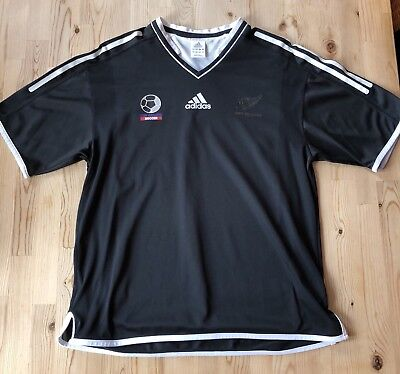 Original Adidas New Zealand Neuseeland All Blacks Soccer Shirt Schwarz M Medium