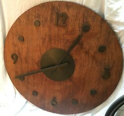 Antique Vintage  American Clock Co.  Wall 40.5  Oversize Giant