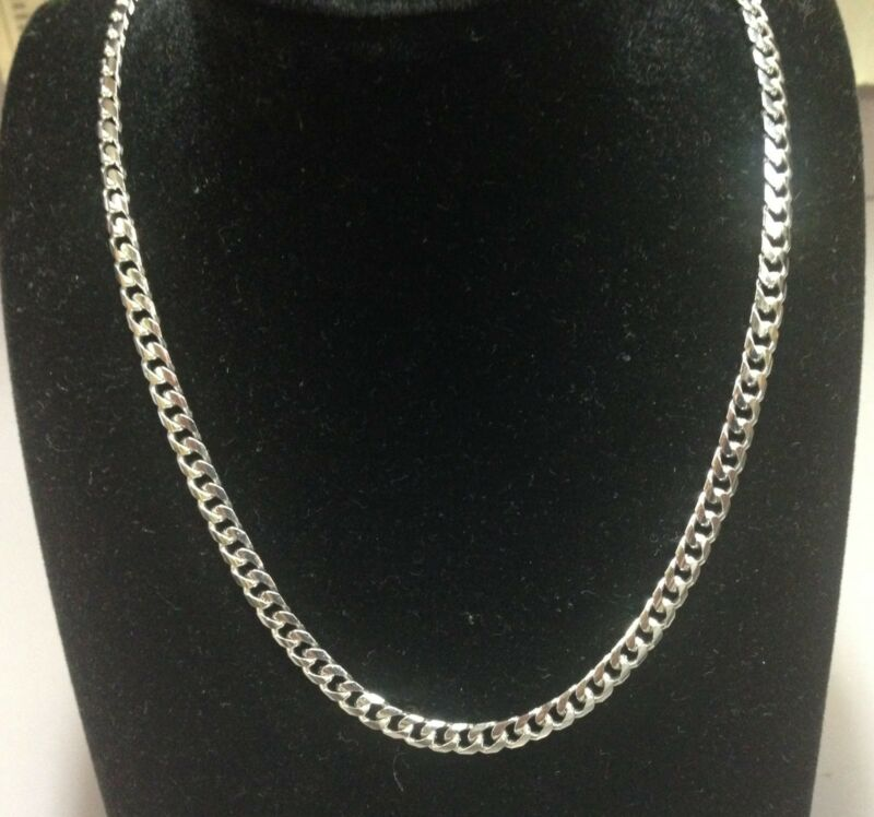 "14kt Solid White Gold Miami Cuban Curb Link 24"" 7 Mm 75 Grams Chain/necklace"