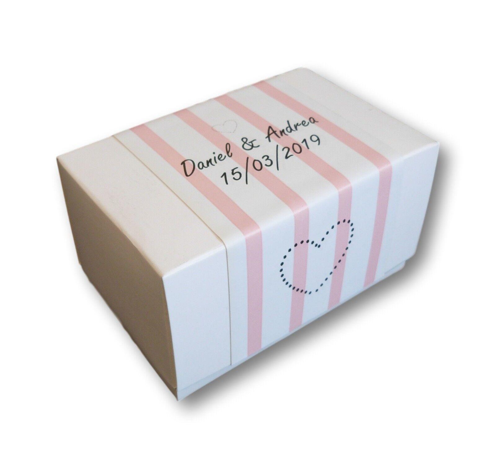 Peachy 20 X Pink S Labels White Box Wedding Birthday Cake Boxes Funny Birthday Cards Online Inifofree Goldxyz