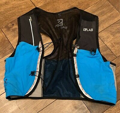 Salomon Unisex S/Lab Sense 2 Set Hydration Vest, Transcend Blue/Black, Small